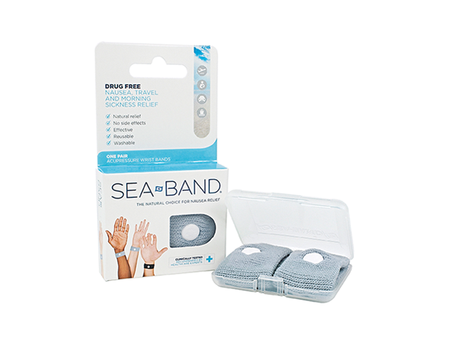 Blue adult Sea-Band packaging and product